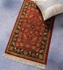 Red Wool 36 x 22 Inch Persian Design Hand Knotted Area Rug by Carpet Overseas