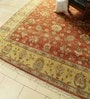 Rust & Gold Wool 116 x 96 Inch Persian Design Hand Knotted Area Rug by Carpet Overseas