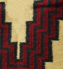Yellow & Red Wool 65 x 40 Inch Modern Design Flatweave Area Rug by Carpet Overseas