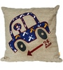 Carport Peanut Beige (16 x 16) Cushion Cover by L Orange
