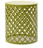 Carved Iron Accent Table in Lime Green Colour by The Yellow Door