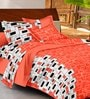 Casa Basic Ezy Collection Orange Cotton Queen Bed Sheet with 2 Pillow Covers