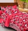 Casa Basic Multicolour Nature & Florals Cotton Queen Size Bed Sheets - Set of 3