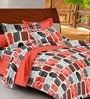 Casa Basic Multicolour Abstract Patterns Cotton Queen Size Bed Sheets - Set of 3