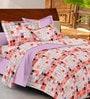Casa Basic Multicolour Geometric Patterns Cotton Queen Size Bed Sheets - Set of 3