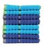 Casa Copenhagen Blue Cotton Face Towel - Set of 8