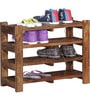 Dewey Shoe Rack in Provincial Teak Finish by Woodsworth