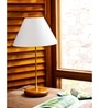 Manda Table Lamp in Off White by CasaCraft