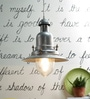 Feliz Pendant Lamp In Silver by CasaCraft