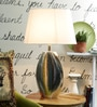 Kronos Table Lamp In White by CasaCraft