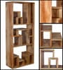 Madison Solid Wood Display Unit in Natural Mango Wood Finish by Woodsworth