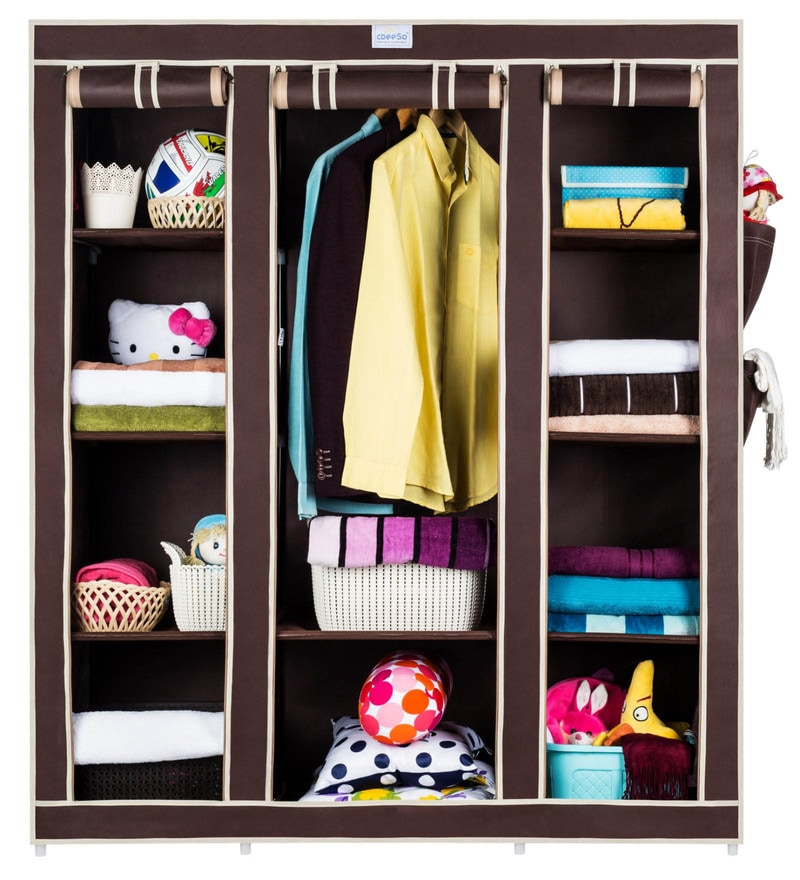 High Capacity Metal & Fabric Collapsible Wardrobe by Cbeeso