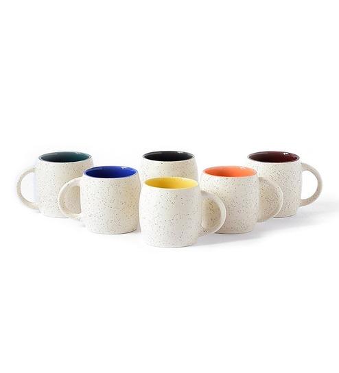 f8ee1615dde Buy Stoneware 150 ML Mug- Set of 6 Online - Ceramic Mugs - Mugs ...