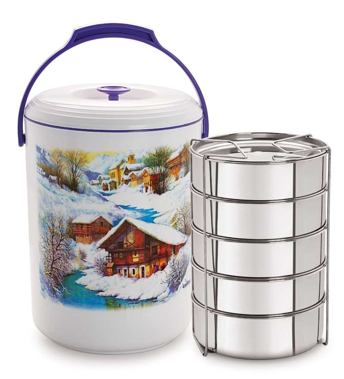 Buy Cello Mega Hot Lunch Pack (5 Container) Violet Online ...