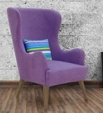 Cecelia Wing Chair in Purple Colour
