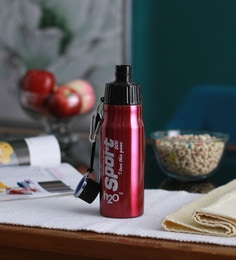Celebration Gift H2O Red Stainless Steel 600 ML Trendy Water Bottle - 1606931