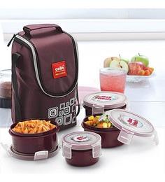 Plastic 300ml Tiffin Bag - Set Of 4 ...