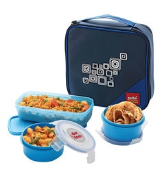 Cello Max Fresh Regent 3 Container Lunch Box with Bag, ...