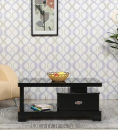 Center Table With Drawer In Black Finish - 1641135