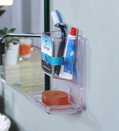 Century Century Acrylic Clear Acrylic Clear Soap Dish With Tumbler Holder