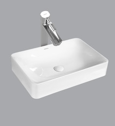 Cera Thin Rim Counter Top Mounting Wash Basin, White - 1721327