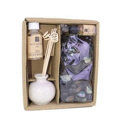 Ceramic Fresh Bamboo Reed Diffuser With Oil & Potpourri