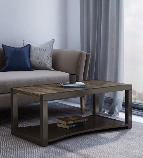 Pepperfry Center Table in Wenge Finish by Crystal Furnitech Modern coffee tables