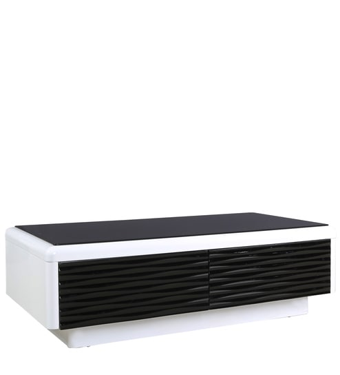 Center Table With Drawer In Black U0026 White Colour By Parin