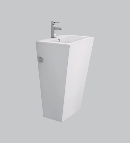 b8ecb3d3fe67de Buy Cera Charles White Ceramic Wash Basin Online - Basins - Sanitaryware -  Bath   Laundry - Pepperfry Product