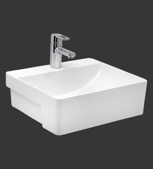 Cera Colga White Ceramic Wash Basin Model 1226