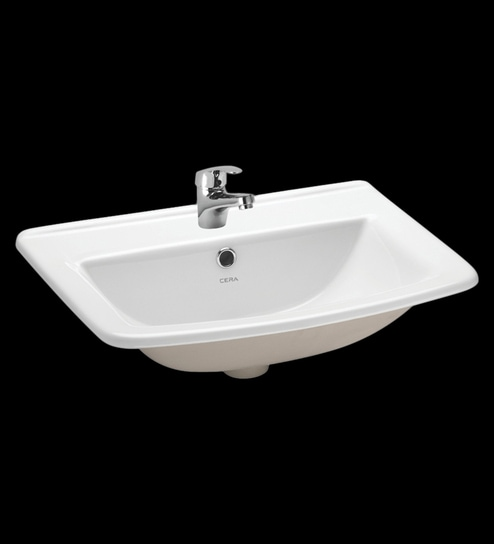 Cera Concord White Ceramic Wash Basin Model No 1032