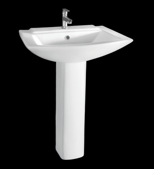 Cera Concord White Ceramic Wash Basin Without Pedastal
