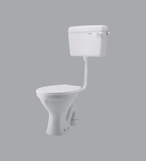 Superb Ceramic White Floor Rested Commode H 15 6W 20 8D 14 4 Inches By Cera Pabps2019 Chair Design Images Pabps2019Com