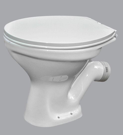 Ceramic White Floor Mounting Water Closet (Length: 22, Width: 15, Height:  16 Inches) by CERA
