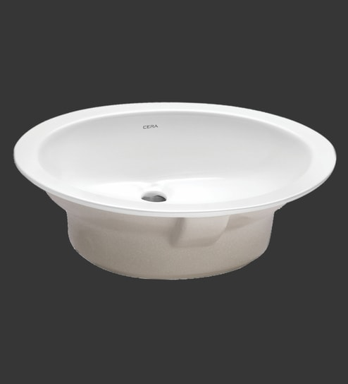 Cera Oval White Ceramic Wash Basin Model 1005A