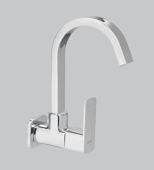 Buy Cera Ruby Chrome Brass Kitchen Sink Tap With Wall Flange
