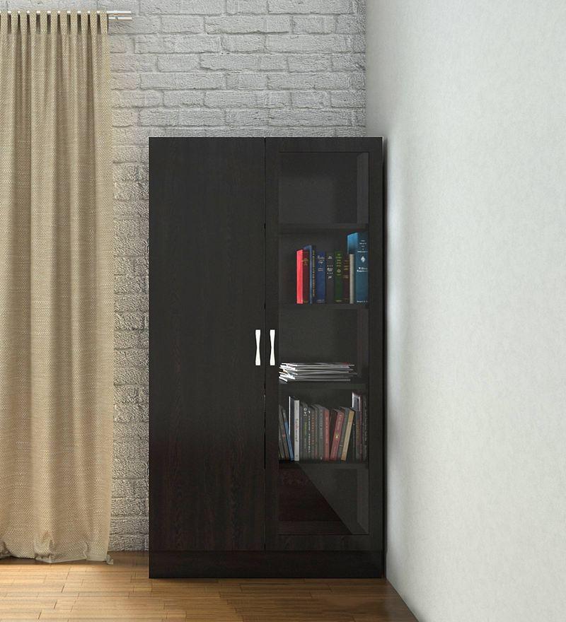 detailing 7226e f7183 Celestia Two Door Bookcase Cum Storage Cabinet In Antique Ebony Finish By  Adona