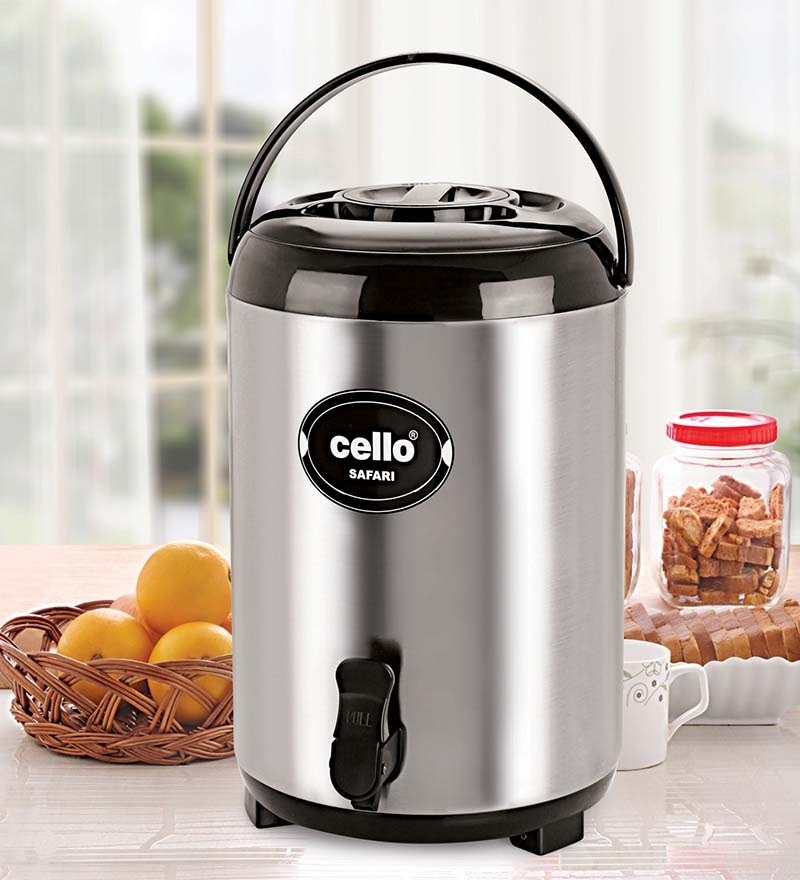Buy Cello Safari Stainless Steel Jug 10 Ltr Black Online