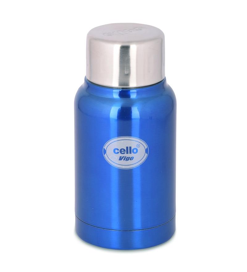Cello Vigo Light Blue Stainless Steel 180 ML Flask