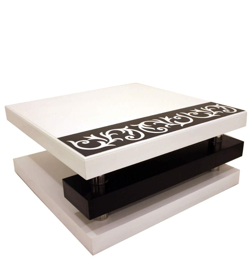 Buy Centre Table In White Colour By Lakkarhara Online