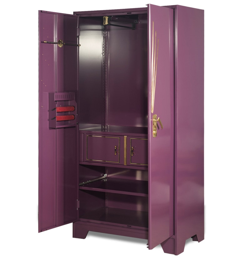Buy Centurion Steel Wardrobe In Purple Finish By Godrej