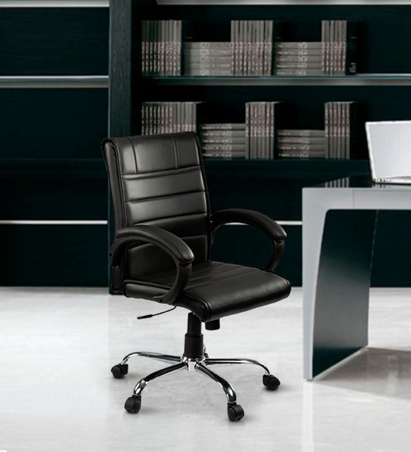 CEO Medium Back Executive Chair in Black Colour by Debono