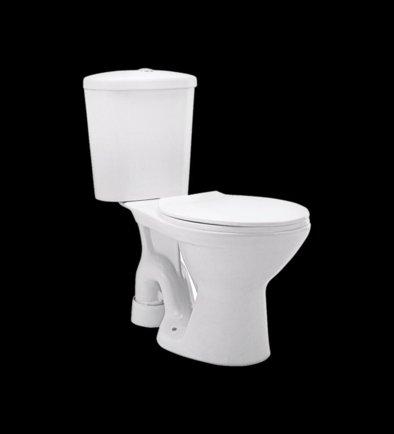 Cera Calibre 'P' Trap White Ceramic Water Closet with Cistern