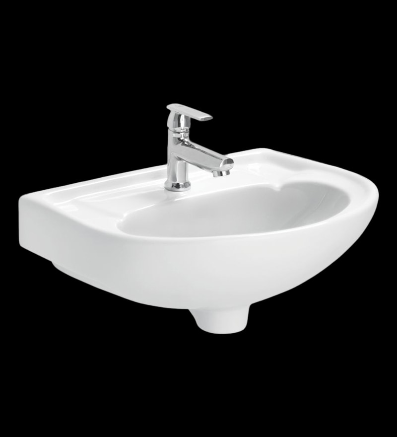 Cera Canon White Ceramic Wash Basin