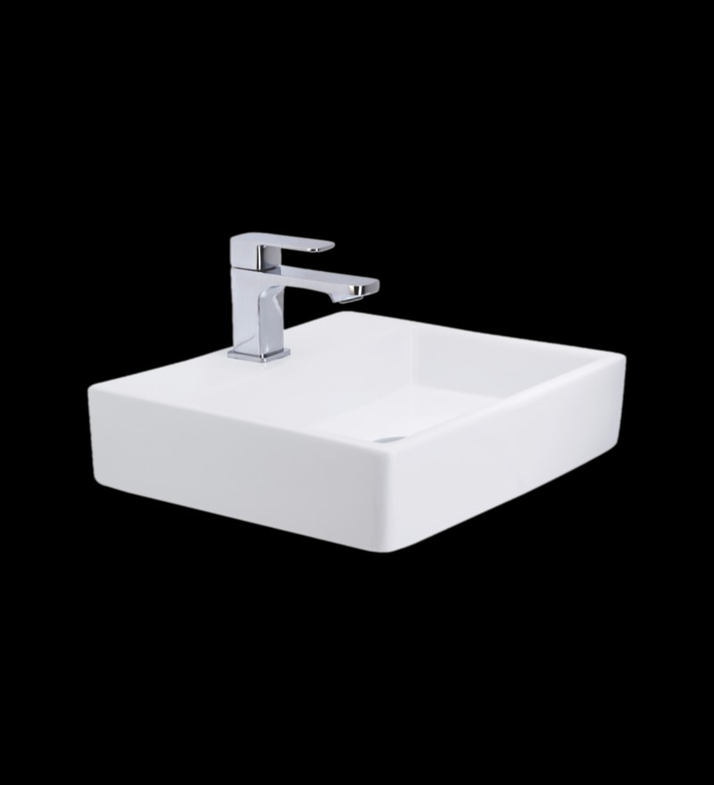 Cera Casket Mini White Ceramic Wash Basin