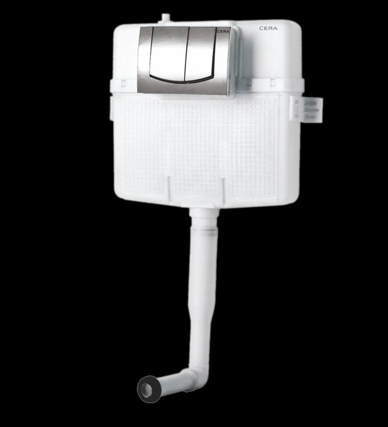 Cera Chevron White PVC Cistern