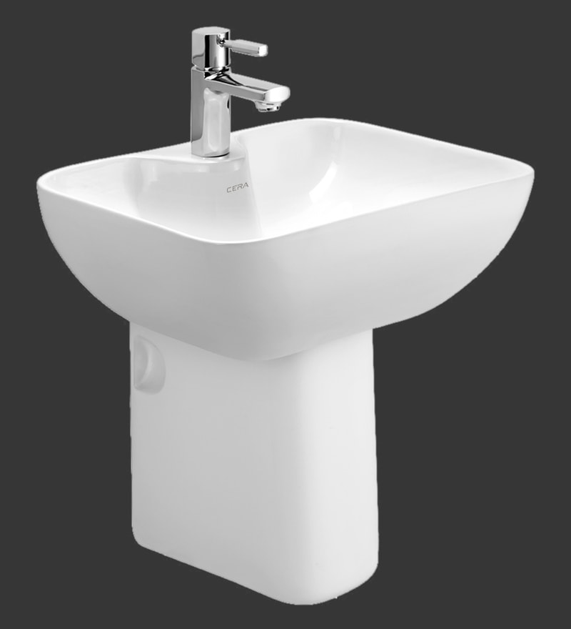 Cera Chino White Ceramic Wash Basin (Model: 1219)
