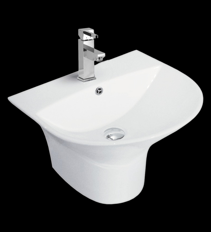 Cera Cisco White Ceramic Wash Basin