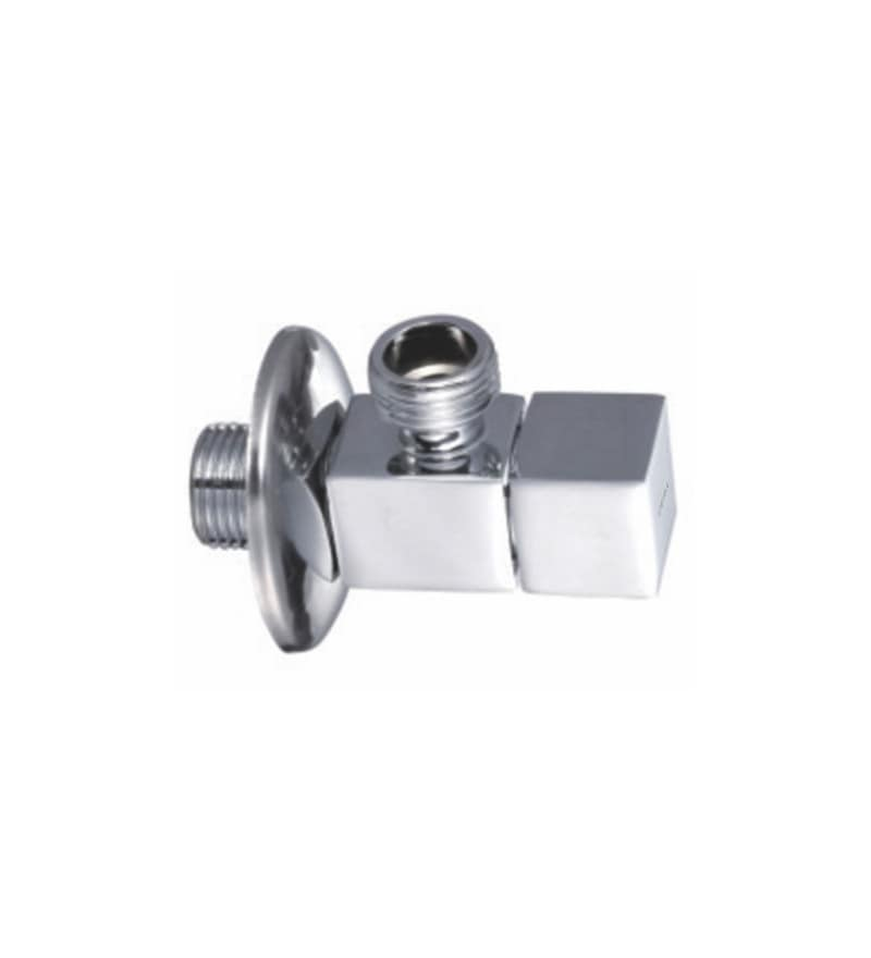 Cera Cm 109 Chrome Plated Brass Angle Cock with Wall Flange