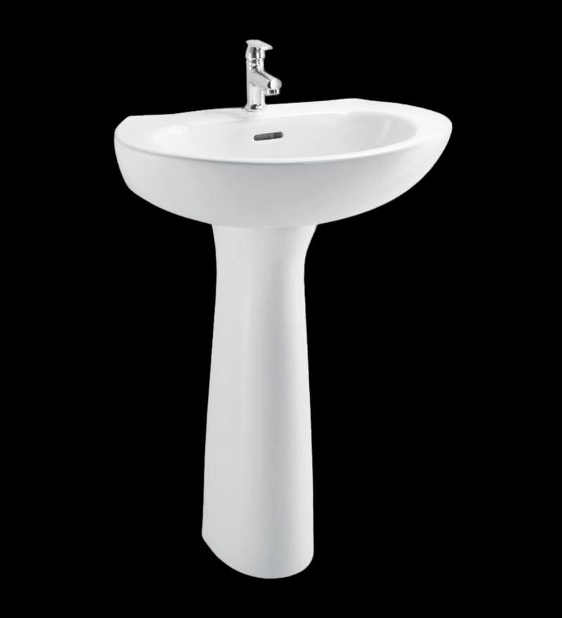 Cera Cognac White Ceramic Wash Basin without pedastal